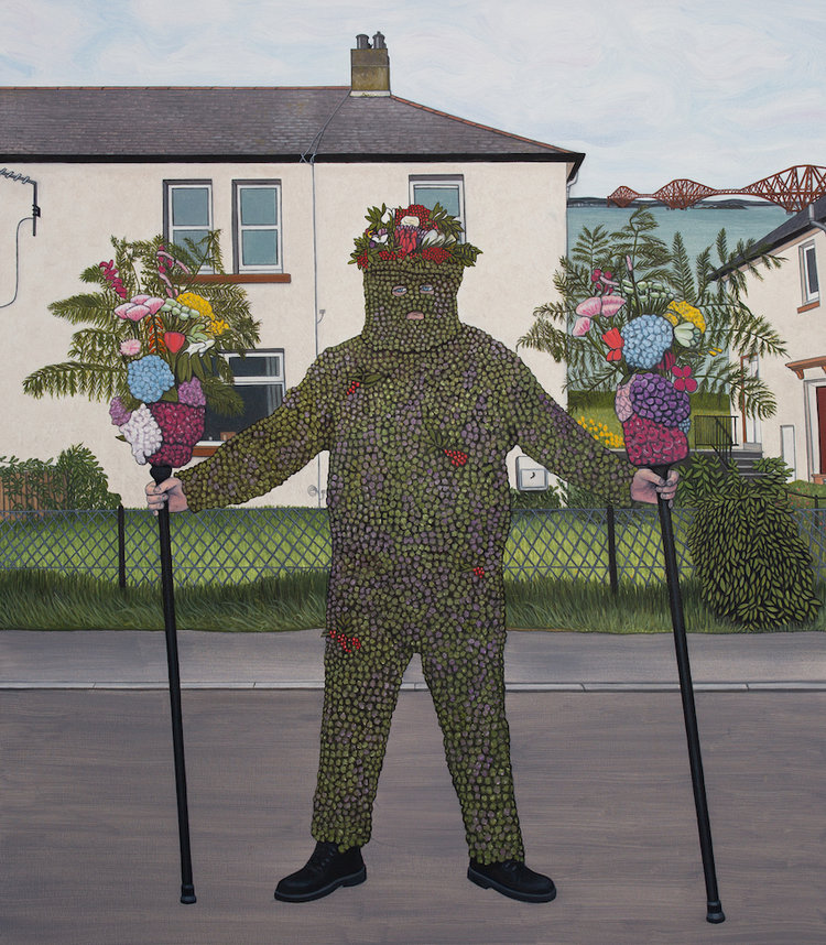 Ben Edge's painting 'The Burryman' that was also used as the cover art for the Fat White Family's single 'Tastes Good With The Money'.