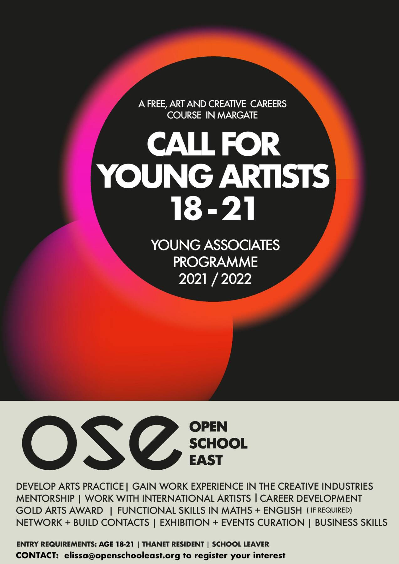 Young Associates call out poster